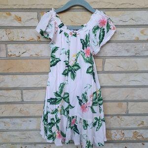 OLD NAVY tropical Hawaiian ruffle maxi dress
